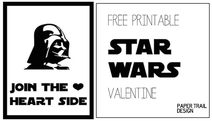 Darth Vader Valentine Printable Star Wars Paper Trail