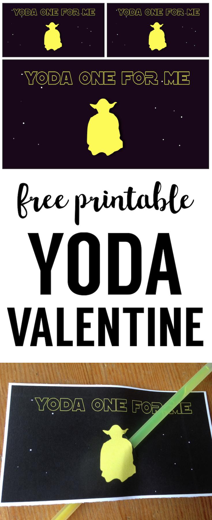 Star Wars Valentine Printable. This Free Printable Yoda Valentine Is The  Perfect Star Wars Printable