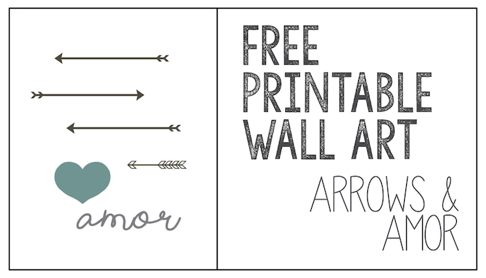 graphic relating to Free Printable Arrows referred to as Printable Wall Artwork: Arrows Amor - Paper Path Structure