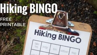 Hiking BINGO Free Printable