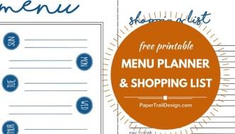 Menu Plan + Shopping List Free Printable
