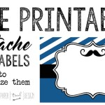 Mustache Food Labels Free Printable: Print these food tag buffet cards to use at your baby shower or birthday party. You can also use them as place cards holders!