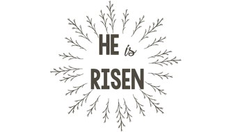 He is Risen Free Printable Easter Sign