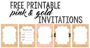 Pink And Gold Free Printables Paper Trail Design - Free birthday invitation templates pink and gold