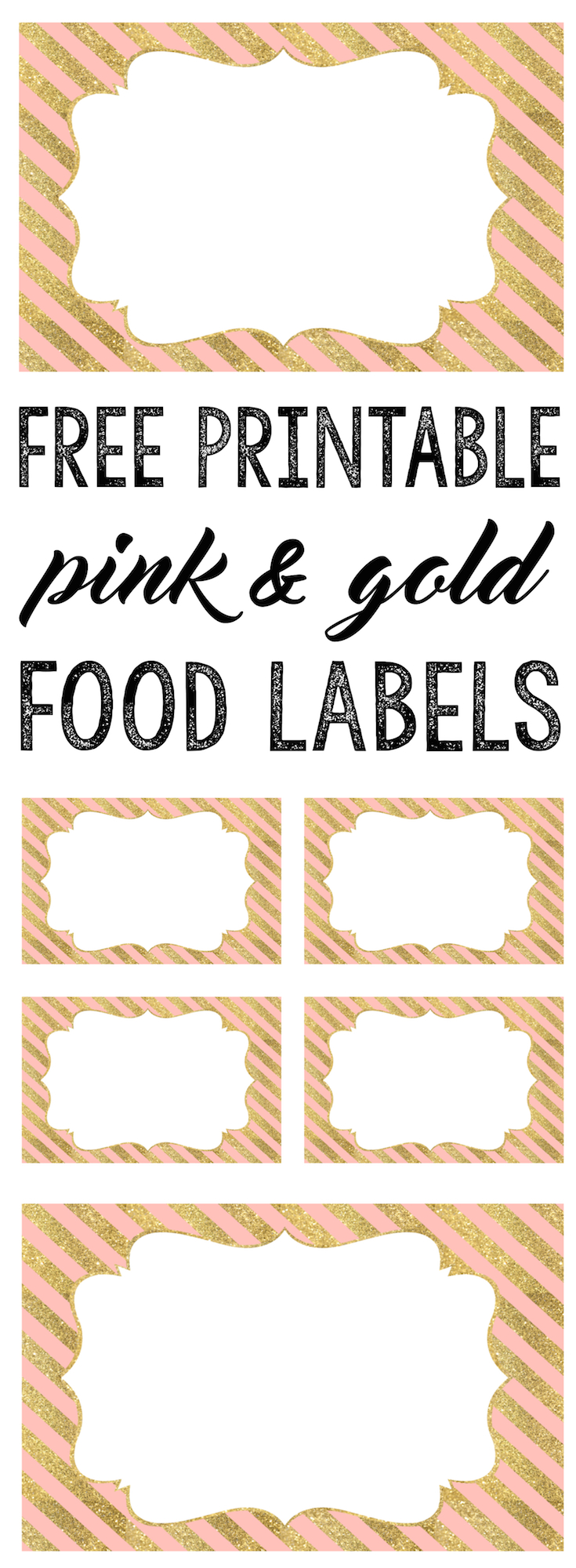 picture regarding Gold Printable Labels identify Purple and Gold Food stuff Labels No cost Printable - Paper Path Design and style