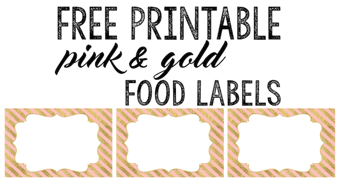 graphic relating to Free Printable Food Labels titled Red and Gold Meals Labels Totally free Printable - Paper Path Style