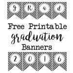 Graduation Banner Free Printables