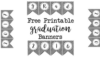 Graduation Banner Free Printables