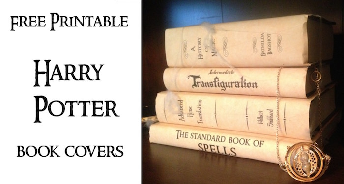 Harry Potter Book Jackets For Sale : Printable spell book cover side