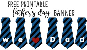 Father's Day Banner Free Printable