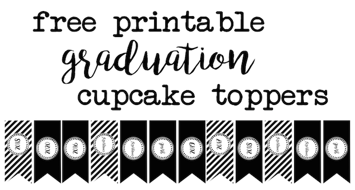 photograph regarding Free Graduation Printable called Commencement Cupcake Toppers No cost Printable - Paper Path Design and style