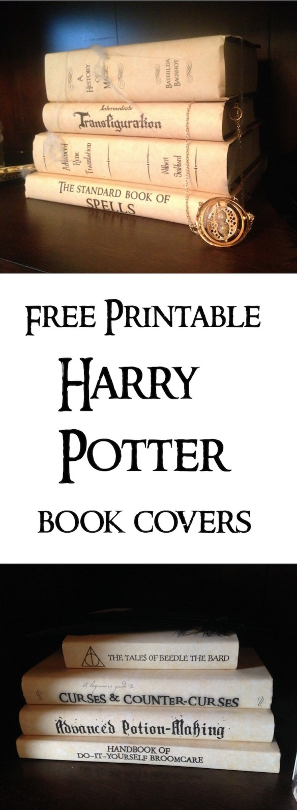 Harry Potter Book Cover Diy : Harry potter book covers free printables paper trail design