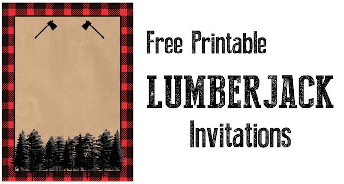 lumberjack invitation free printable