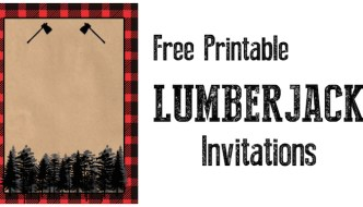 Lumberjack Invitation Free Printable