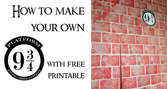 image about Platform 9 3 4 Sign Printable called Do it yourself Harry Potter System 9 3/4 - Paper Path Style and design