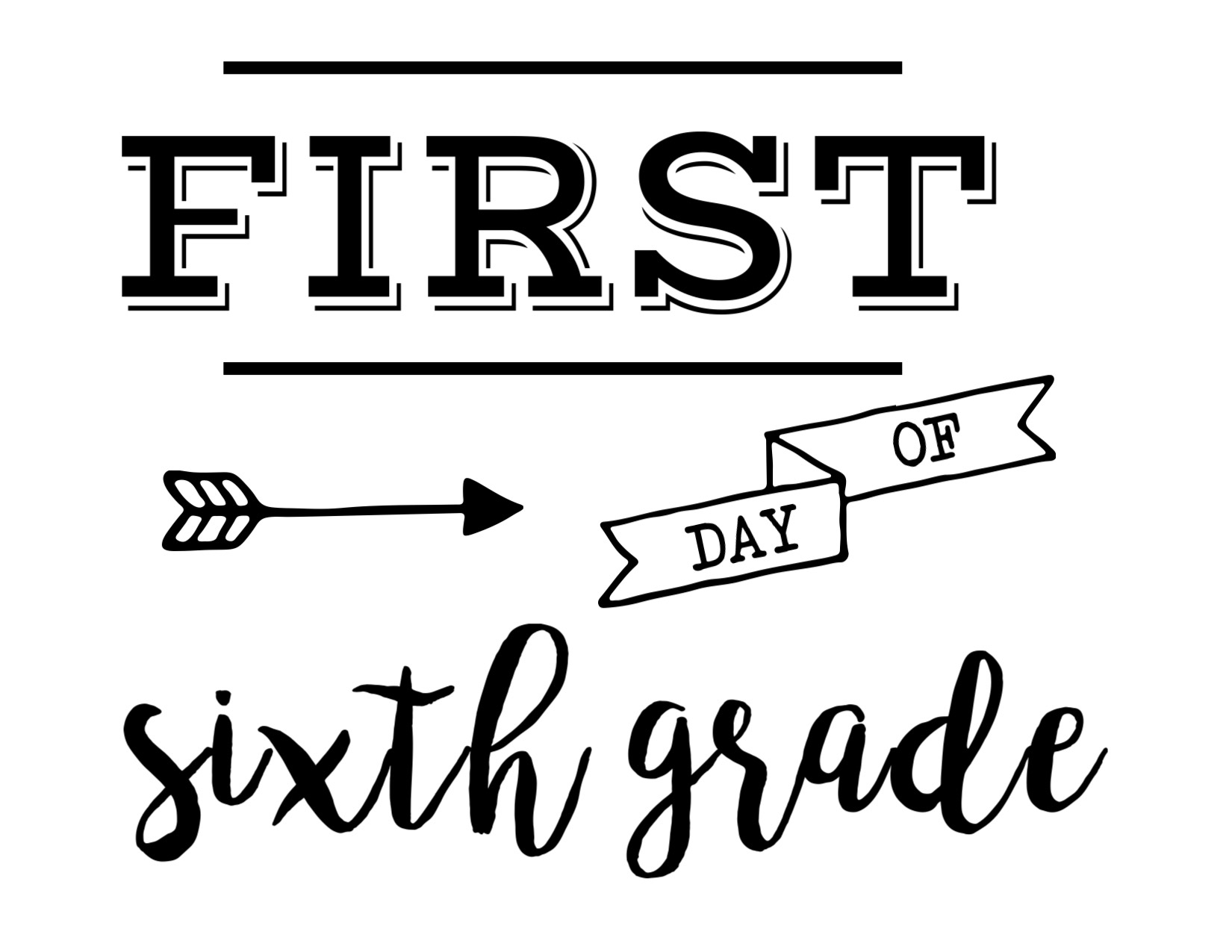 First-day-sixth-grade - Paper Trail Design