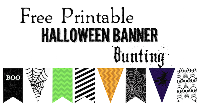 picture about Halloween Banner Printable identified as Halloween Banner Bunting Absolutely free Printable - Paper Path Structure