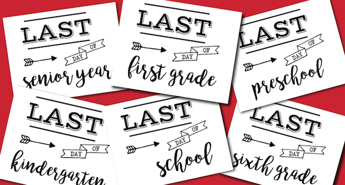 image relating to Last Day of Kindergarten Printable called Past Working day of College or university Signal No cost Printable - Paper Path Layout