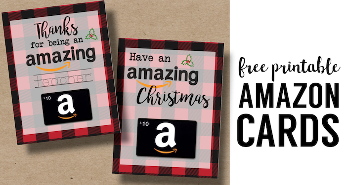 image relating to Printable Christmas Cards for Teachers named Printable Xmas Present Card Holders for Amazon - Paper
