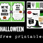 12 Halloween free printables for your Halloween decor. Have fun decorating this Halloween season with different Halloween banner, photo booth, art prints, and more.