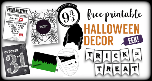 12 Halloween free printables for your Halloween decor. Have fun decorating this Halloween season with different Halloween banner, photo booth, art prints, and more easy Halloween decorations.