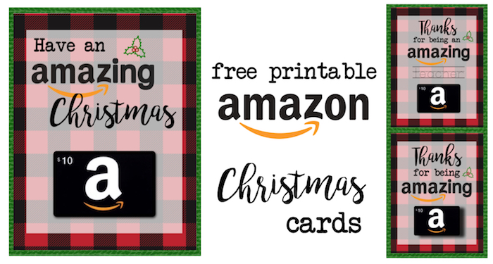 printable christmas gift card holders for amazon print free printable flannel christmas cards for amazon - Amazon Christmas Gift