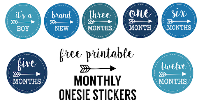 Punchy image with free printable baby month stickers