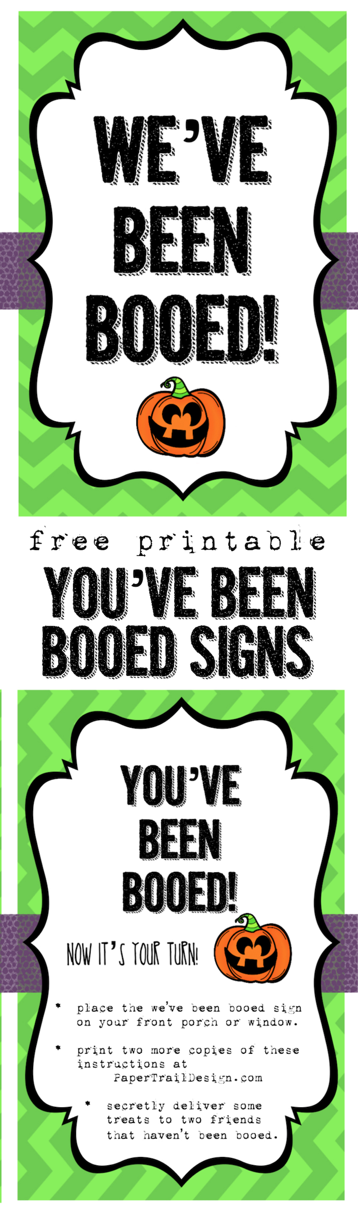 graphic about Booed Signs Printable named Weve Been Booed No cost Printable - Paper Path Style and design