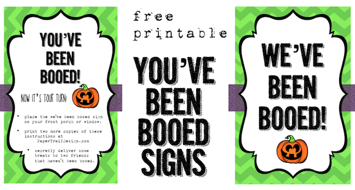 photo relating to Booed Signs Printable called Weve Been Booed No cost Printable - Paper Path Style and design