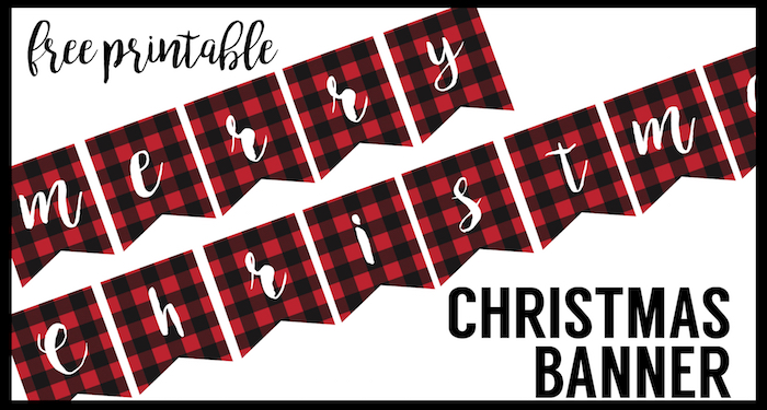 graphic about Merry Christmas Printable named Totally free Printable Merry Xmas Banner - Paper Path Style