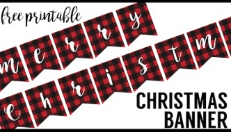 Free Printable Merry Christmas Banner. This Lumberjack flannel print banner makes the perfect rustic Christmas decor for the holidays. Just print, cut, and hang. Easy Christmas decor!