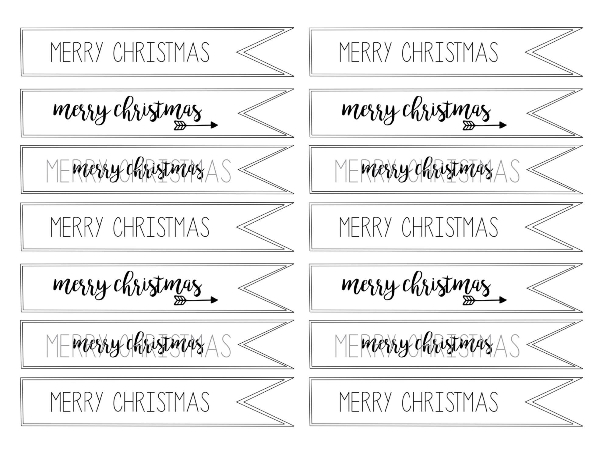 Merry Christmas Tag Free Printable