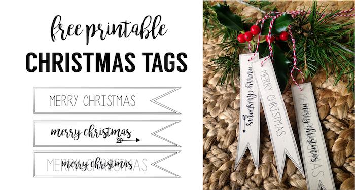 merry christmas tag free printable - Free Merry Christmas Images