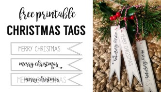 Merry Christmas Tag Free Printable