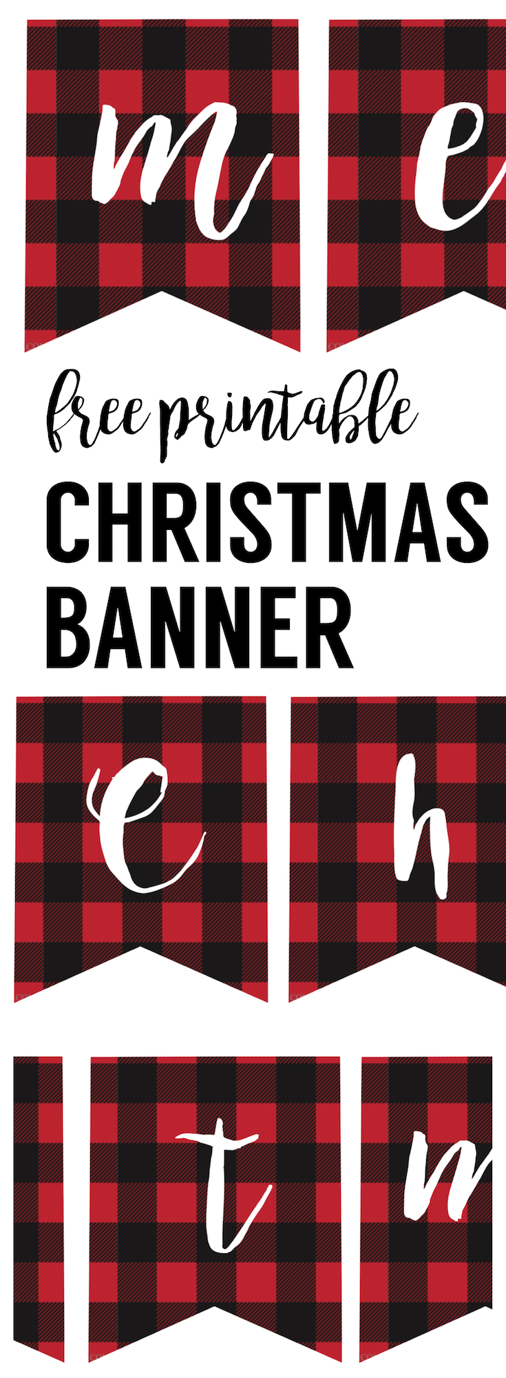 photo regarding Merry Christmas Banner Printable titled Mini Merry Xmas Banner and Vacation Printables Weblog Hop