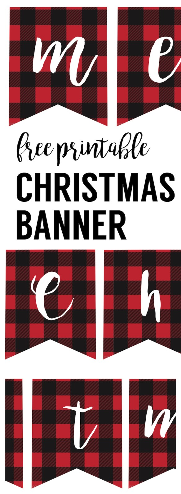 Geeky image with printable christmas banner