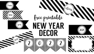 Happy New Year Party Printables