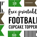 Football Cupcake Toppers Free Printable. Cheap football party decorations! Great football cupcake decorating ideas. Just print and cut!
