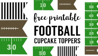 Football Cupcake Toppers Free Printable