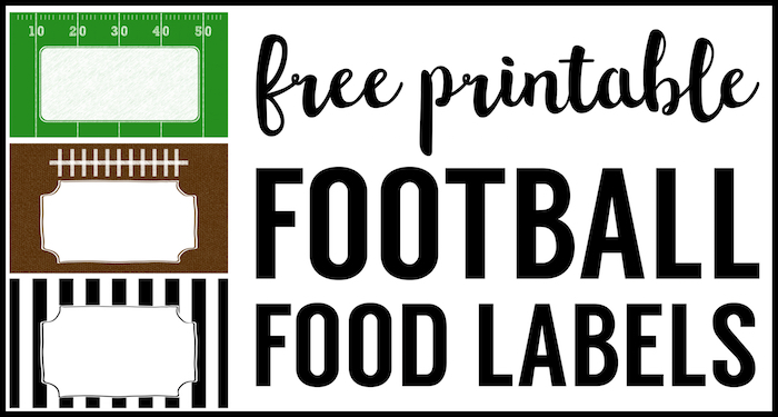 photo about Free Printable Food Labels for Party identified as Soccer Food stuff Labels Totally free Printable - Paper Path Design and style