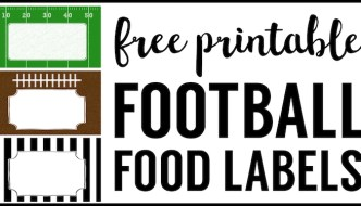 Football Food Labels {Free Printable}