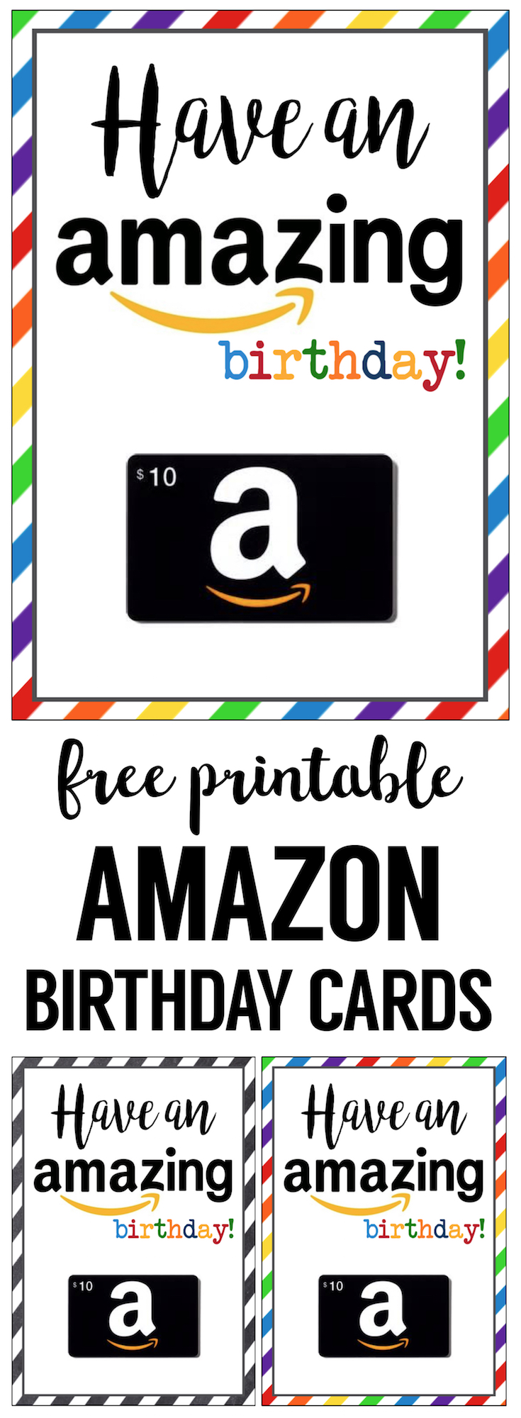 Amazon Birthday Cards Free Printable Purchase An Gift Card And Pair It With