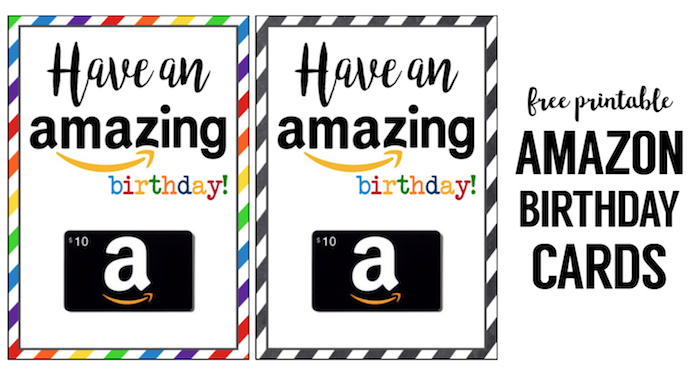 graphic relating to Amazon Gift Card Printable identified as Amazon Birthday Playing cards Free of charge Printable - Paper Path Design and style
