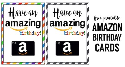 Amazon Birthday Cards Free Printable. Purchase an amazon birthday gift card and pair it with our happy birthday card printable. Easy DIY gift they'll love.