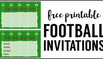 Football Party Invitation Template {Free Printable}