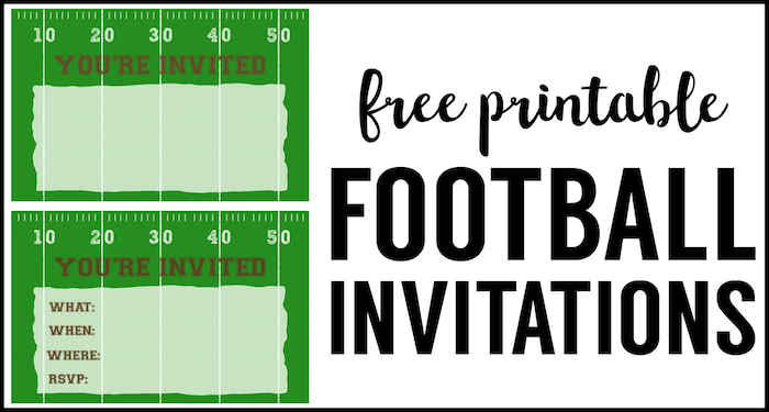 Football Party Invitation Template Free Printable Invitations Invites For A