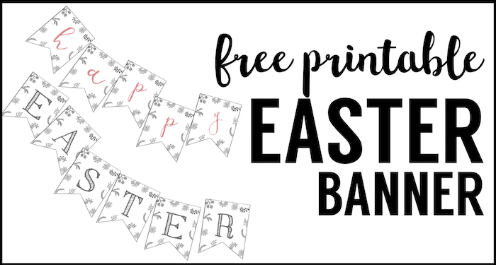 picture relating to Easter Banner Printable referred to as Joyful Easter Banner Printable - Paper Path Layout