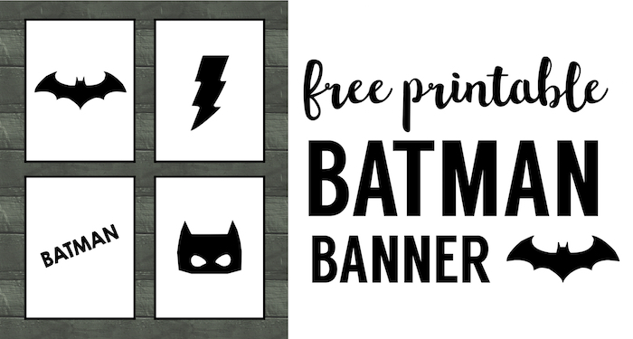 Captivating Batman Party Banner Free Printable