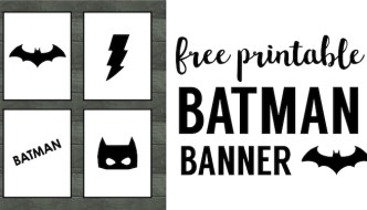 Batman Party Banner Free Printable