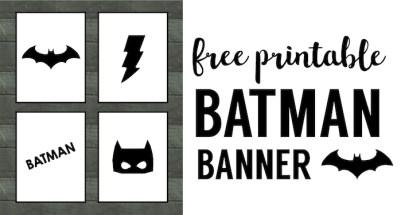 Free batman invitation template paper trail design batman party banner free printable easy decor for a batman birthday party cheap diy filmwisefo